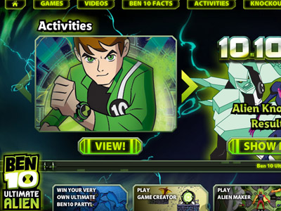 Ben 10 Ultimate Alien mini-site
