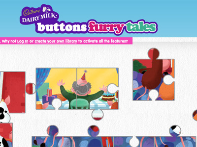 Button's furry tales story website