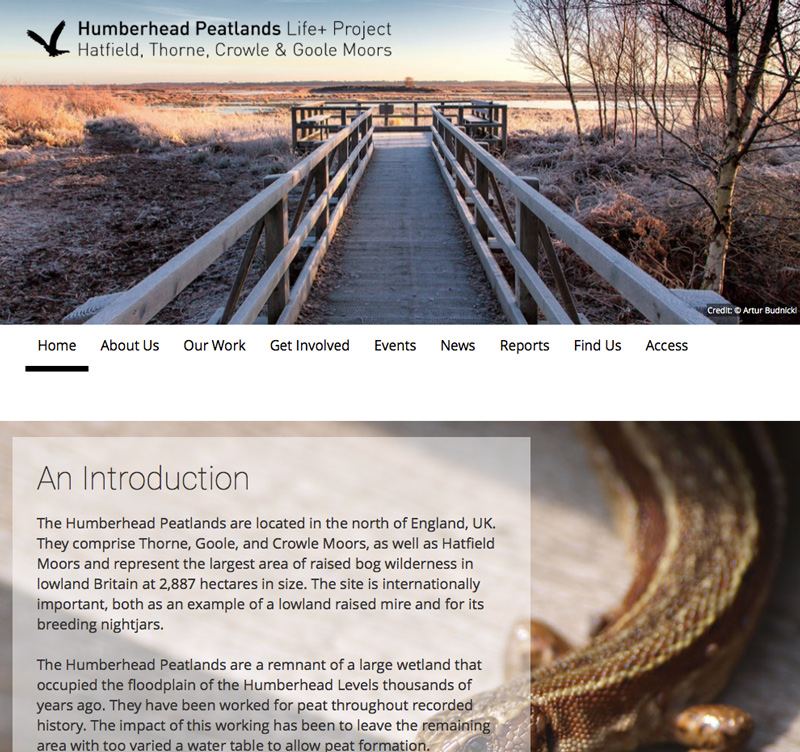 Humberhead peatlands website