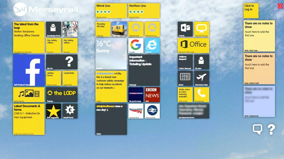Staff engagement touchscreens